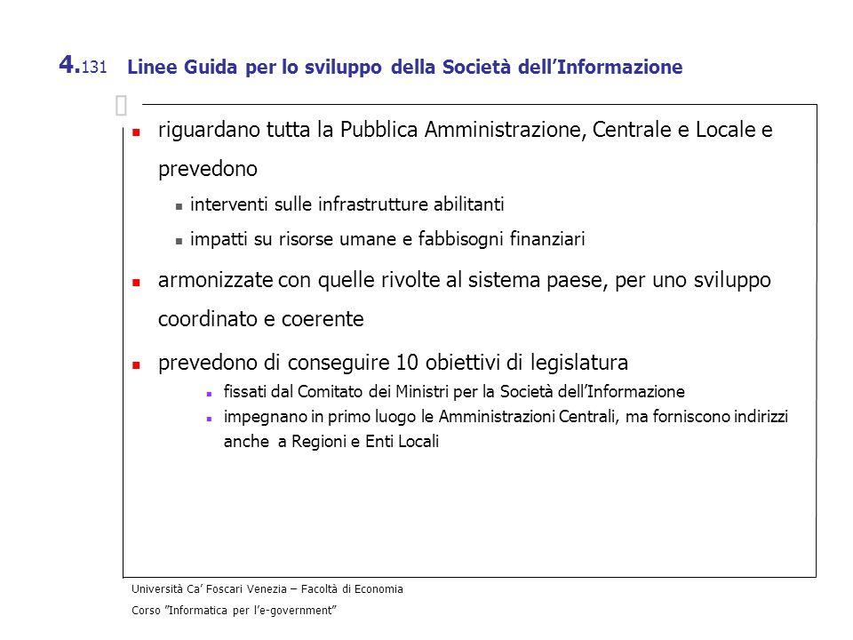 Linee Guida per lo sviluppo della Società dell'Informazione