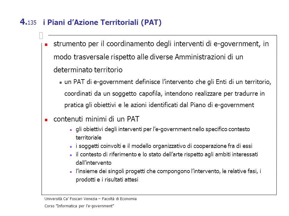 i Piani d'Azione Territoriali (PAT)