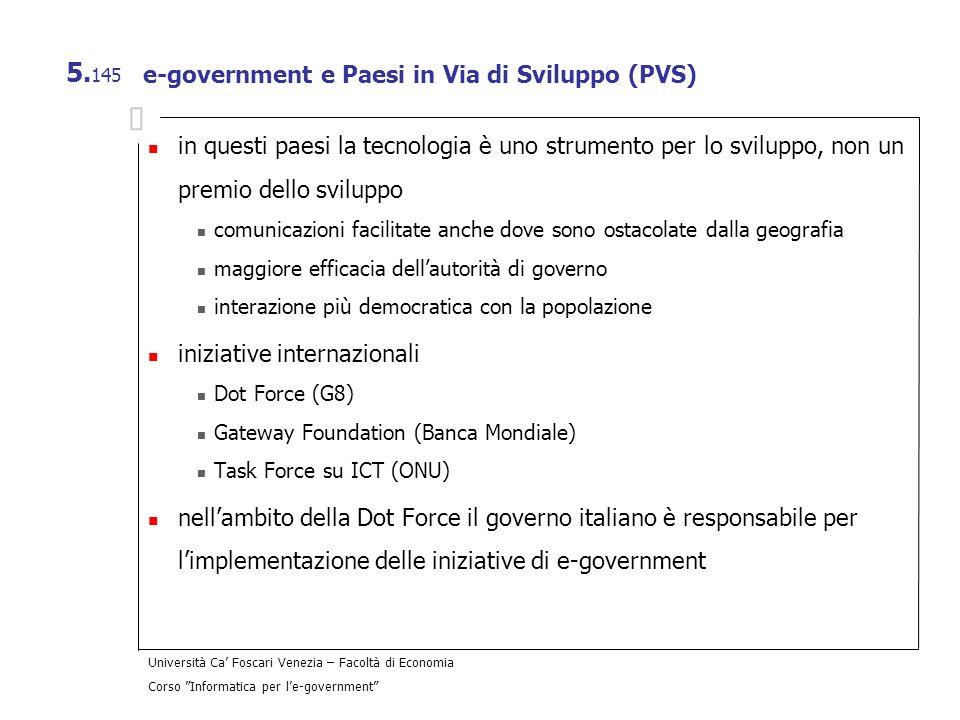 e-government e Paesi in Via di Sviluppo (PVS)