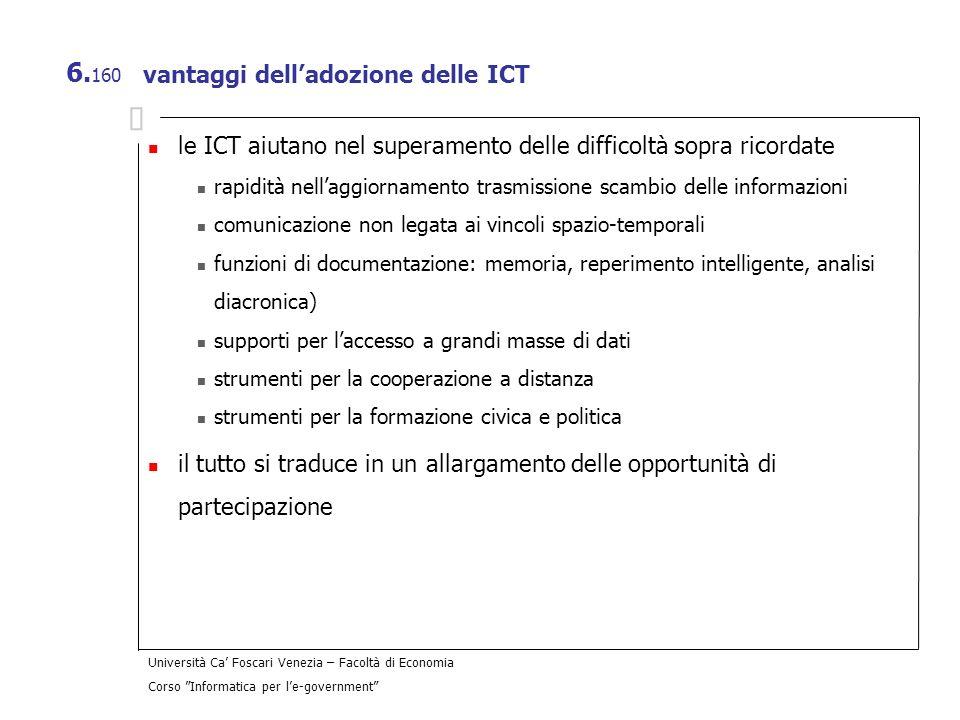 vantaggi dell'adozione delle ICT