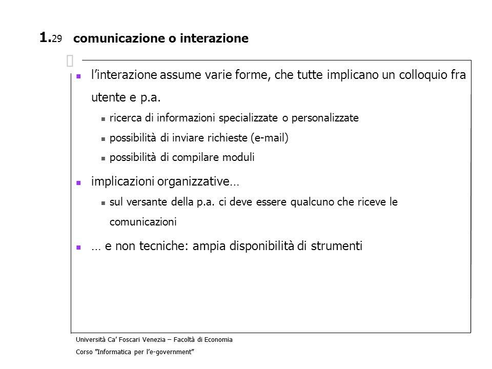comunicazione o interazione