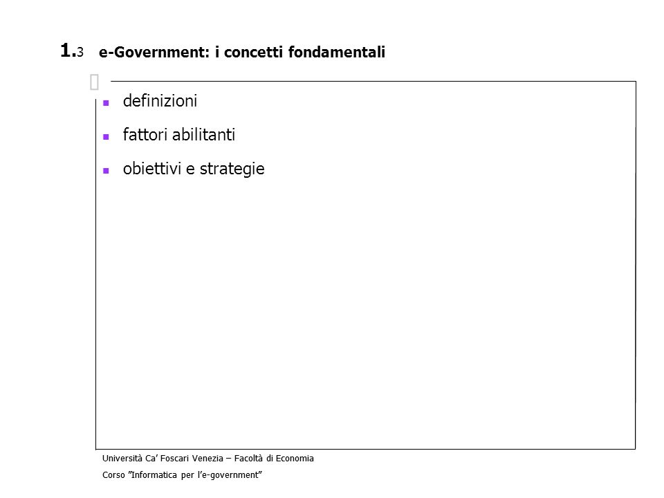 e-Government: i concetti fondamentali