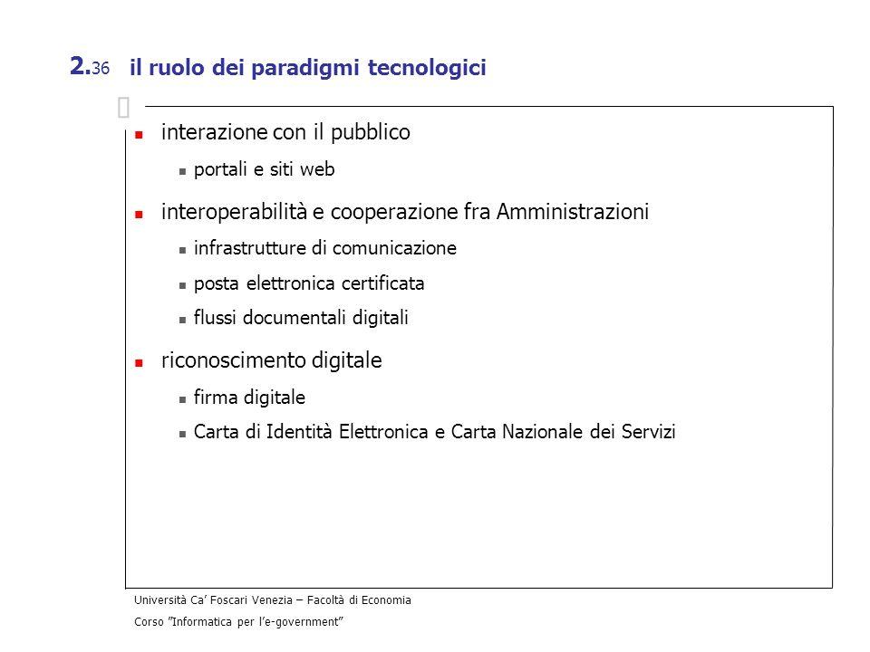 il ruolo dei paradigmi tecnologici