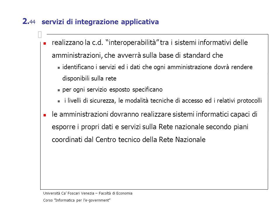 servizi di integrazione applicativa