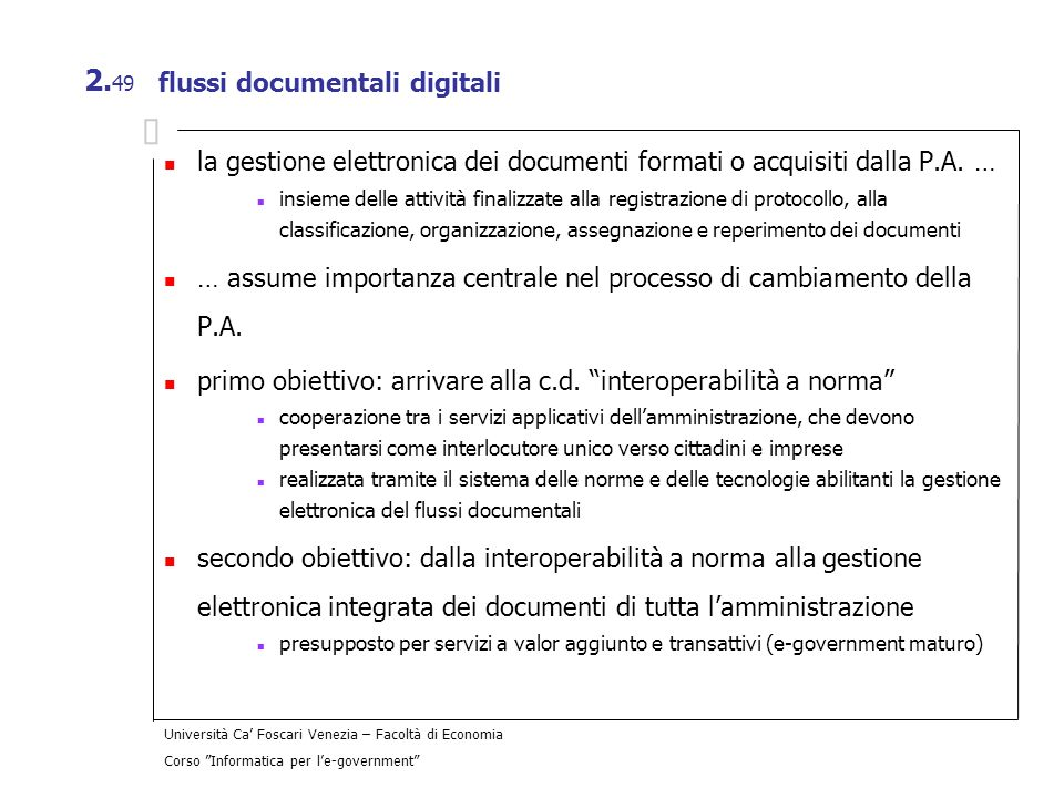 flussi documentali digitali