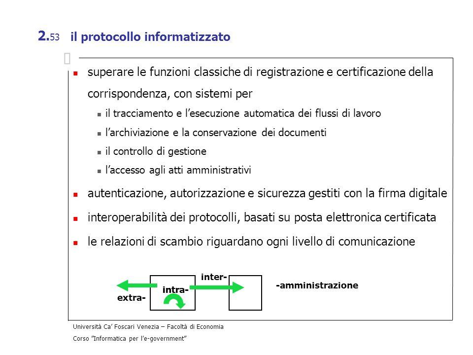il protocollo informatizzato