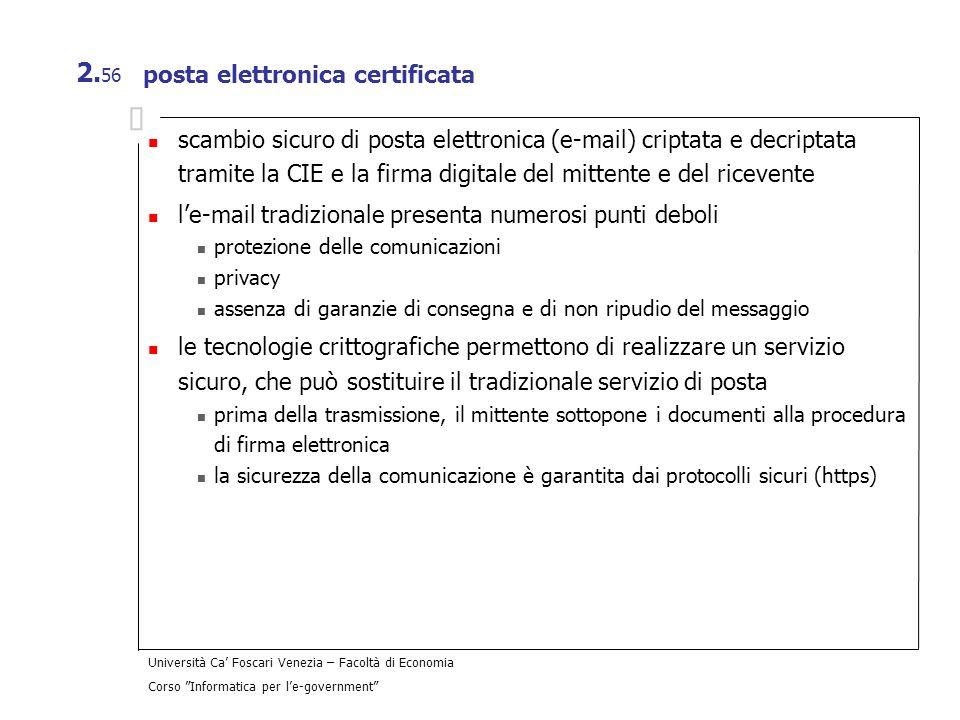 posta elettronica certificata