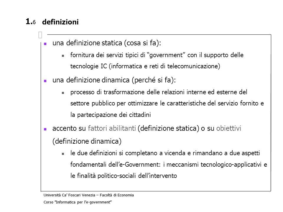 una definizione statica (cosa si fa):