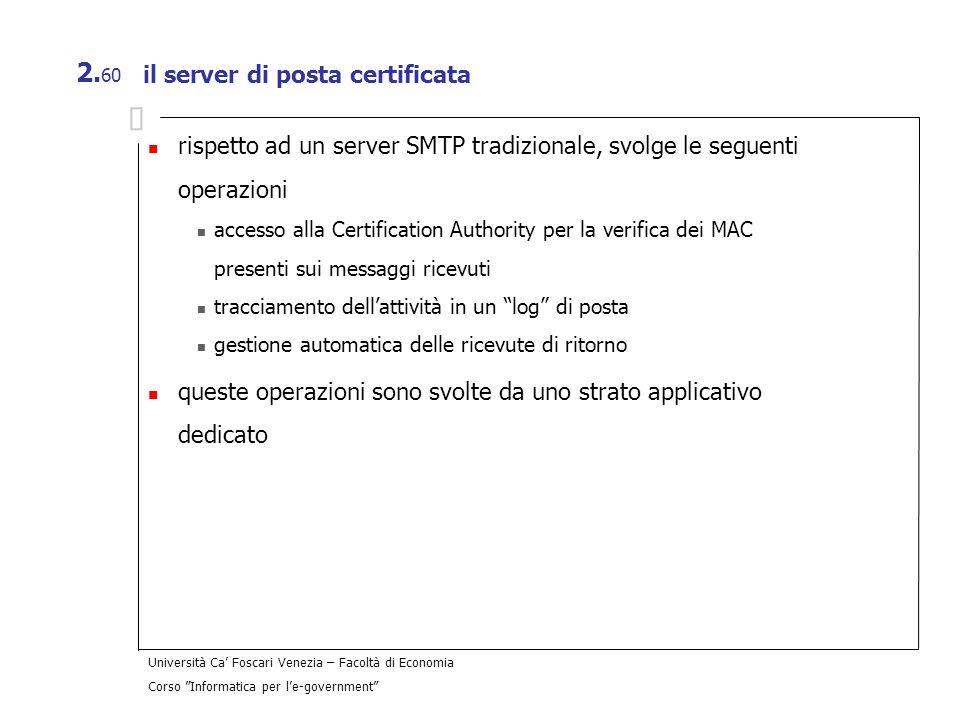 il server di posta certificata