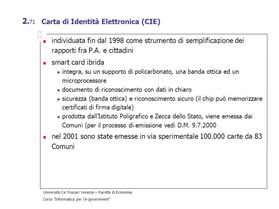 Carta di Identità Elettronica (CIE)