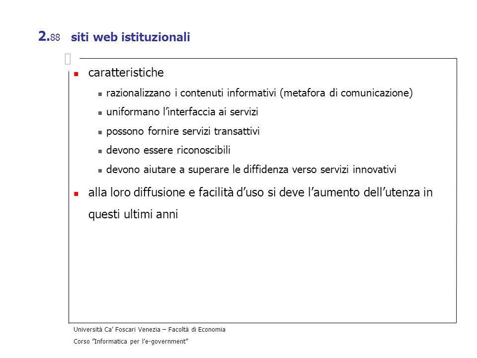 siti web istituzionali