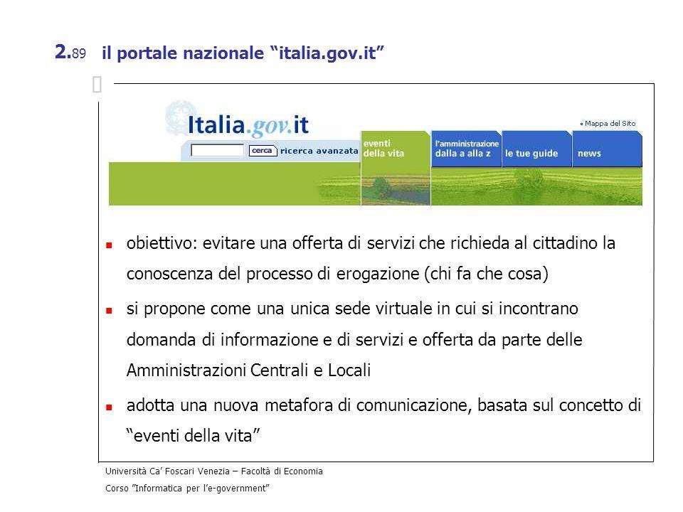 il portale nazionale italia.gov.it