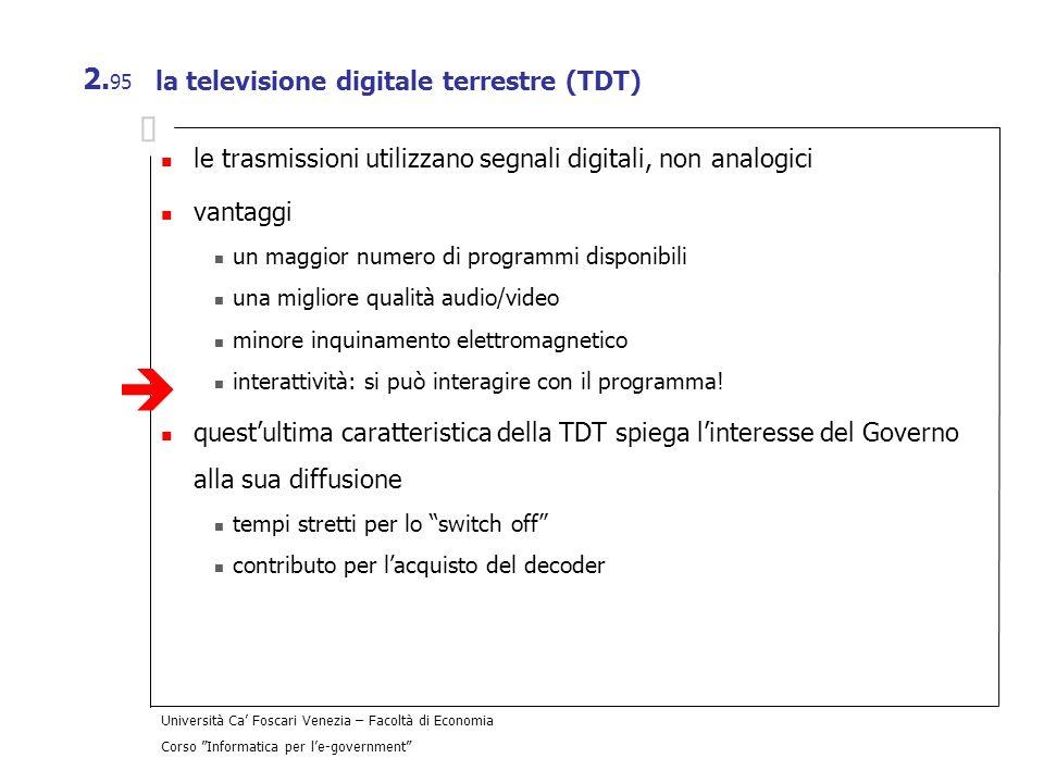 la televisione digitale terrestre (TDT)