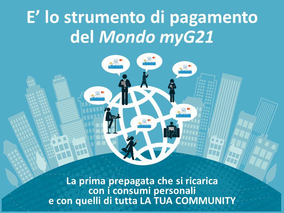 E' lo strumento di pagamento del Mondo myG21