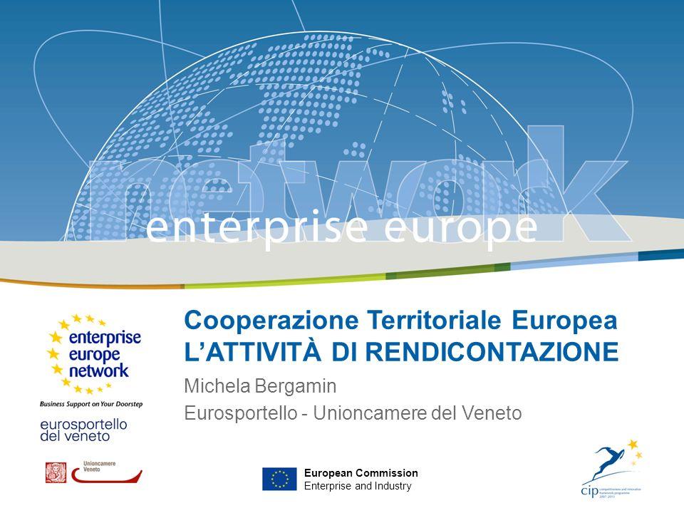Cooperazione Territoriale Europea L'ATTIVITÀ DI RENDICONTAZIONE