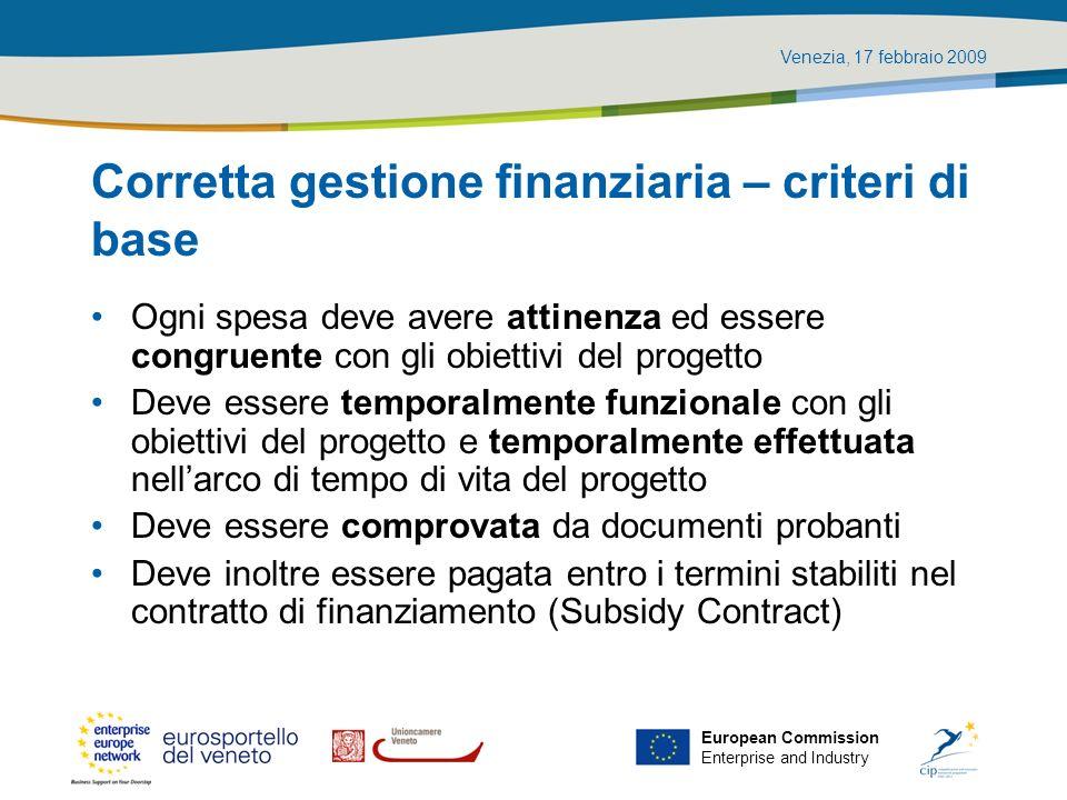 Corretta gestione finanziaria – criteri di base