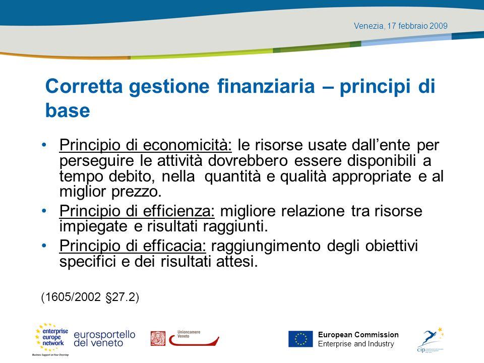 Corretta gestione finanziaria – principi di base