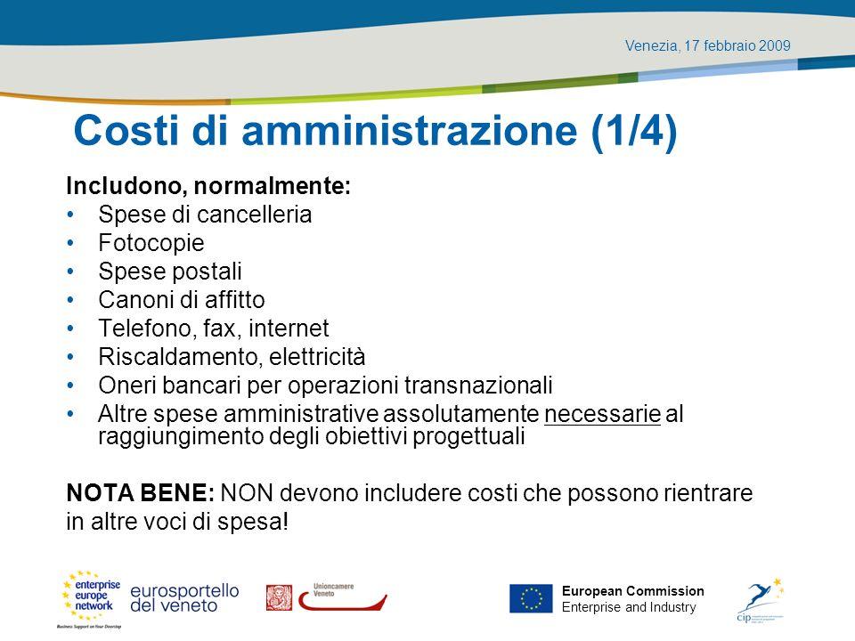 Costi di amministrazione (1/4)