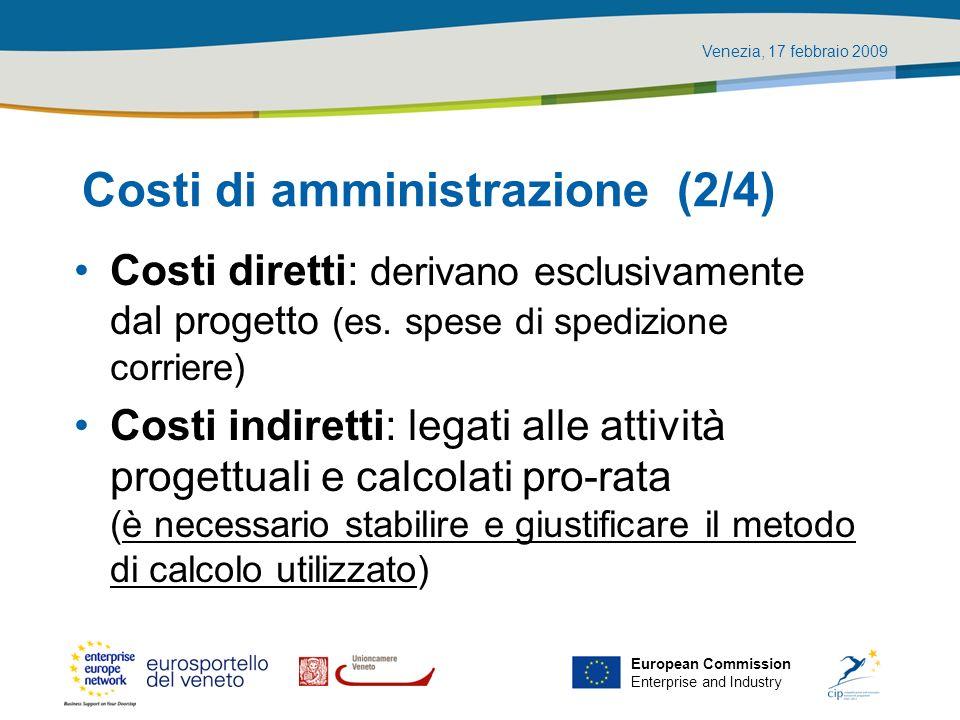 Costi di amministrazione (2/4)