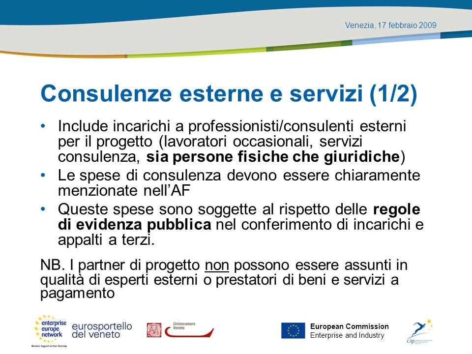 Consulenze esterne e servizi (1/2)