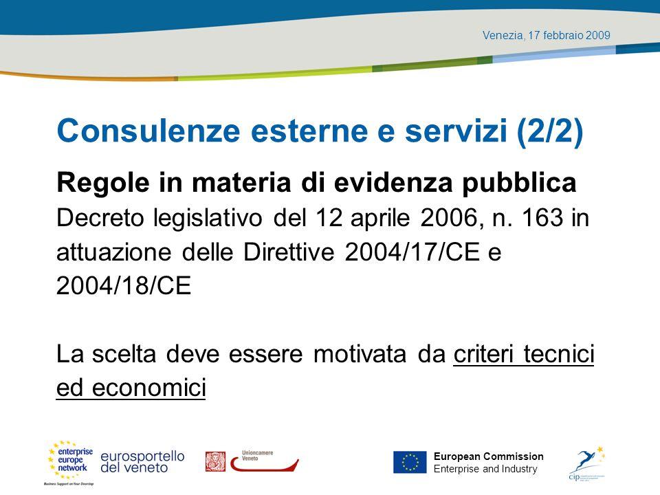Consulenze esterne e servizi (2/2)