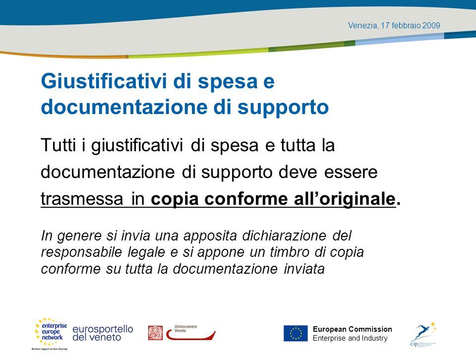 Giustificativi di spesa e documentazione di supporto