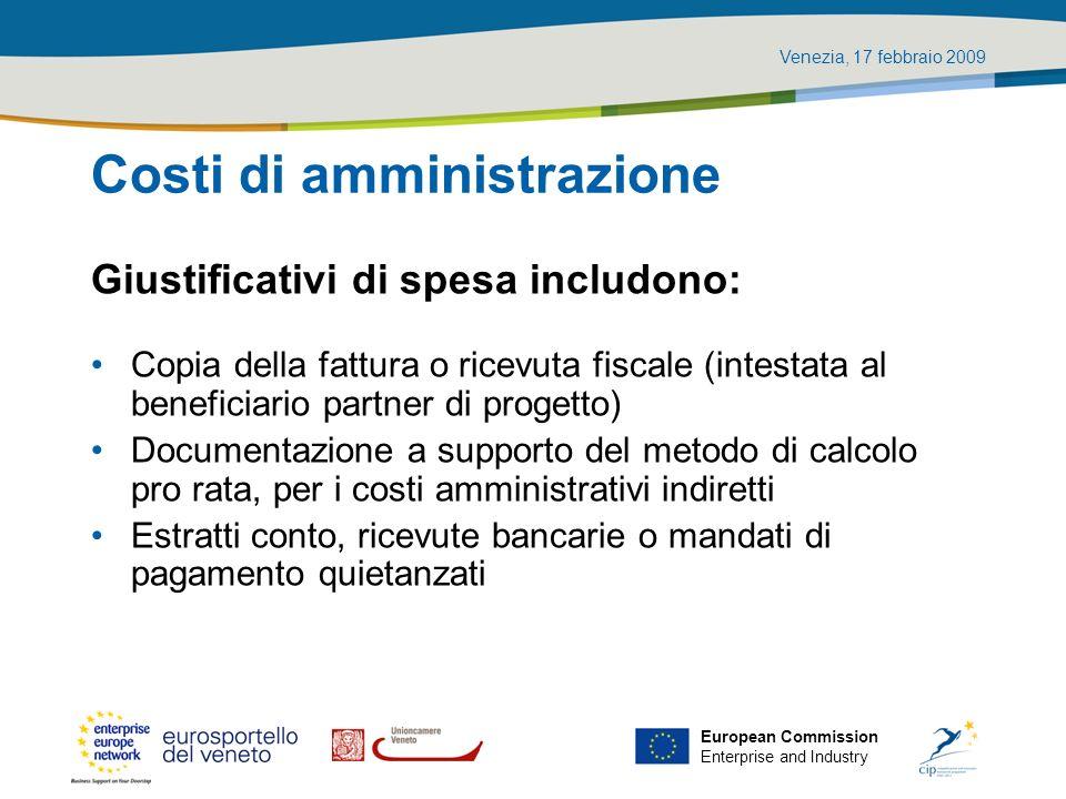 Costi di amministrazione