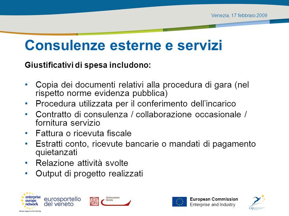 Consulenze esterne e servizi
