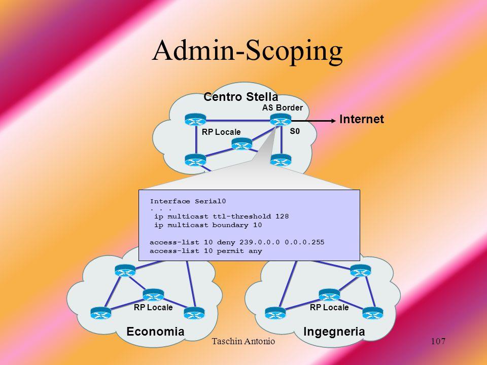 Admin-Scoping Centro Stella Internet Economia Ingegneria