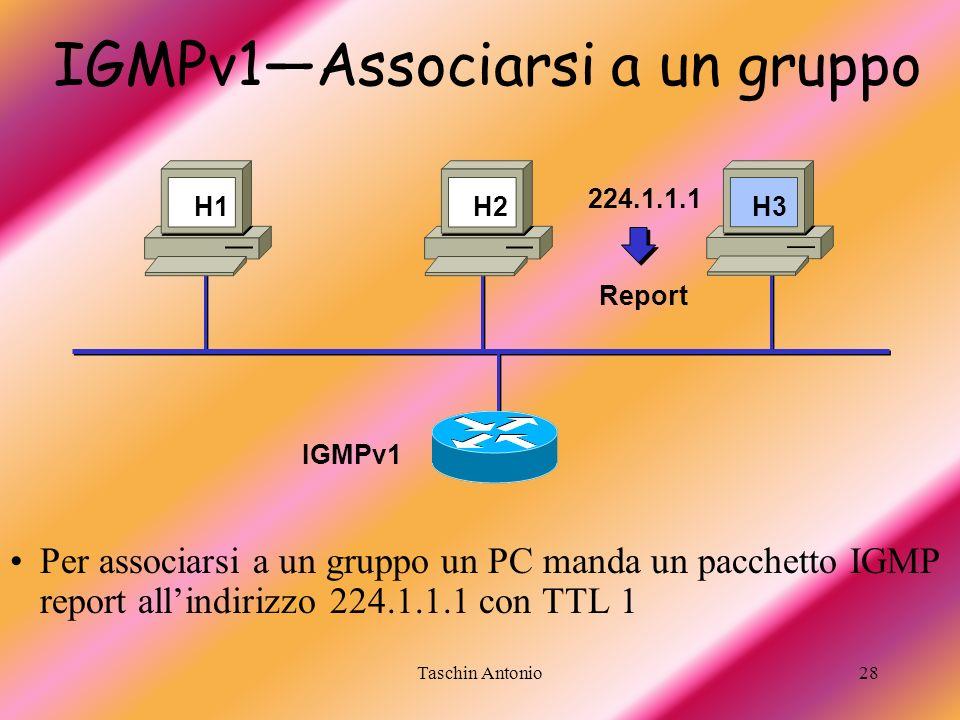 IGMPv1—Associarsi a un gruppo