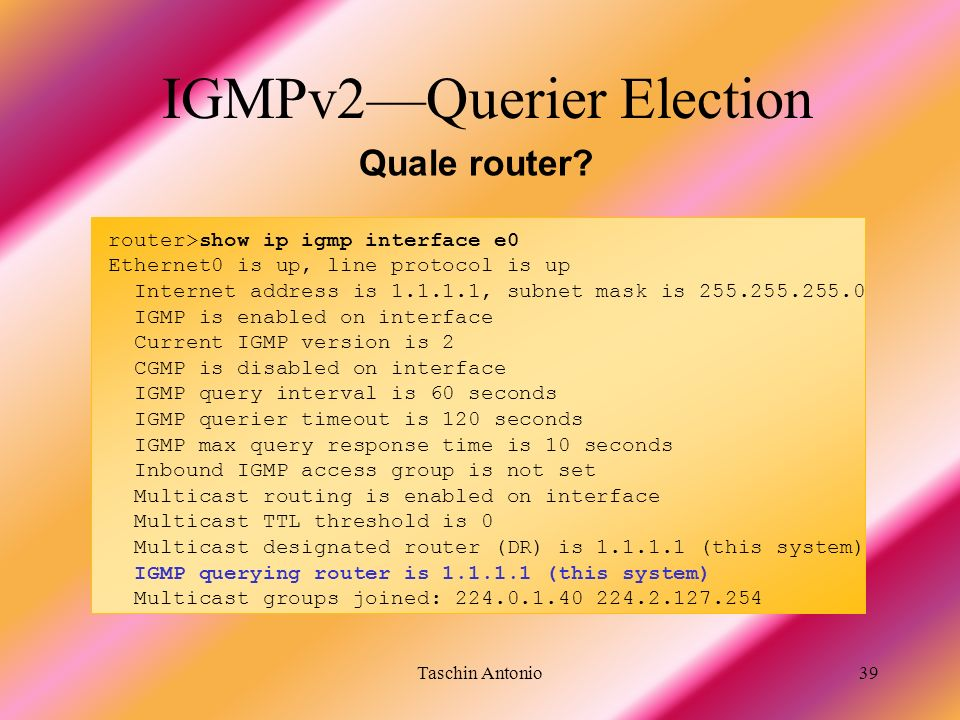 IGMPv2—Querier Election