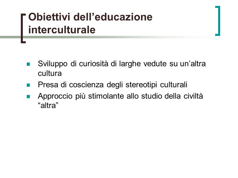 Obiettivi dell'educazione interculturale