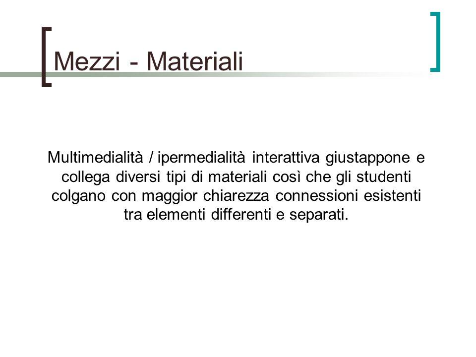 Mezzi - Materiali