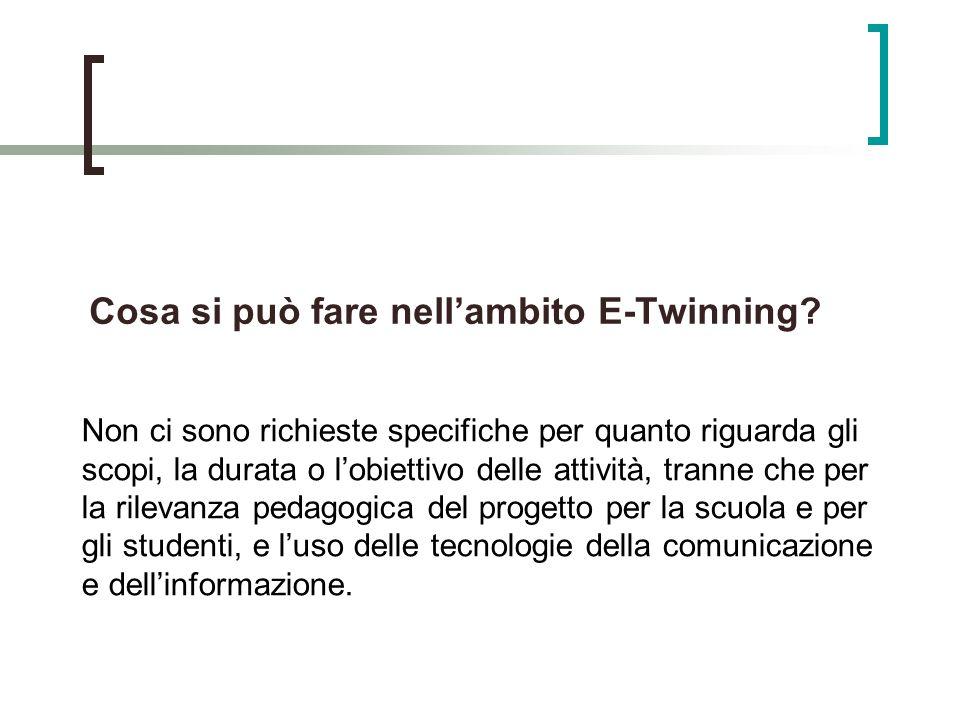 Cosa si può fare nell'ambito E-Twinning