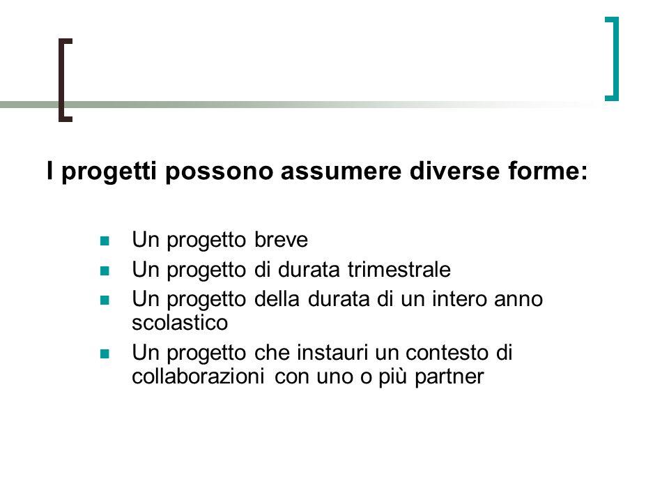 I progetti possono assumere diverse forme: