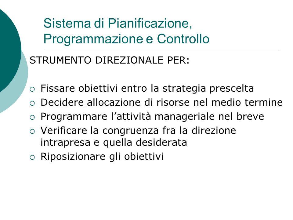 Sistema di Pianificazione, Programmazione e Controllo