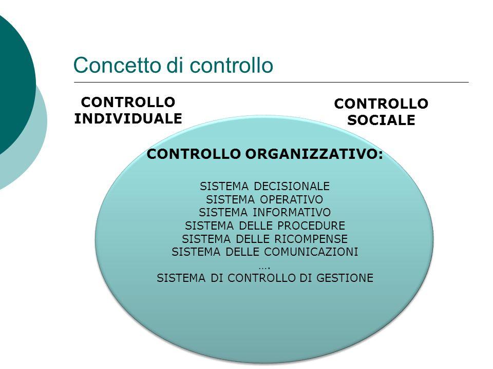CONTROLLO INDIVIDUALE CONTROLLO ORGANIZZATIVO: