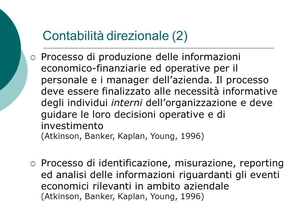 Contabilità direzionale (2)
