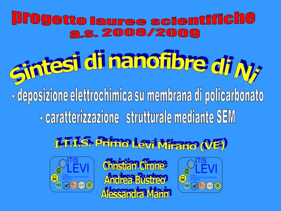 Sintesi di nanofibre di Ni I.T.I.S. Primo Levi Mirano (VE)