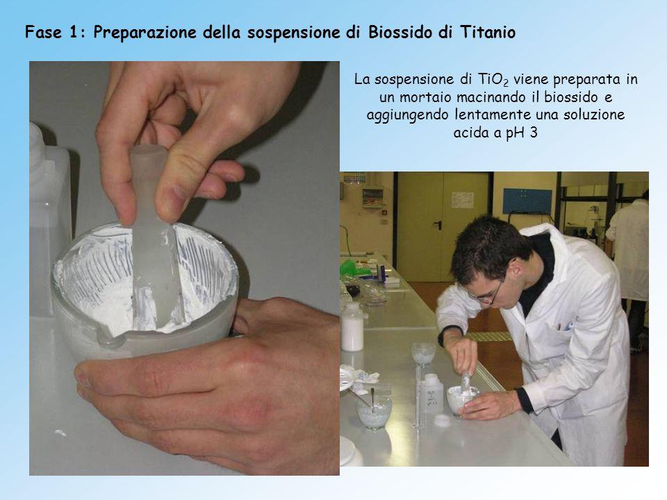 Fase 1: Preparazione della sospensione di Biossido di Titanio
