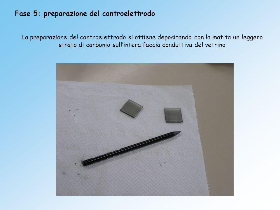 Fase 5: preparazione del controelettrodo