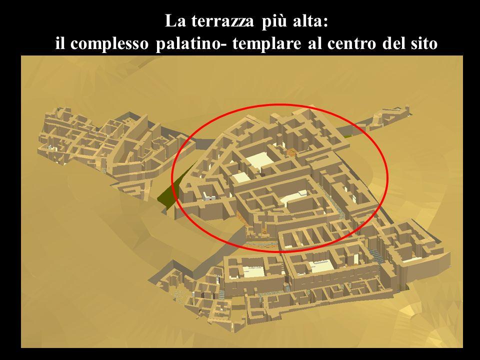 il complesso palatino- templare al centro del sito