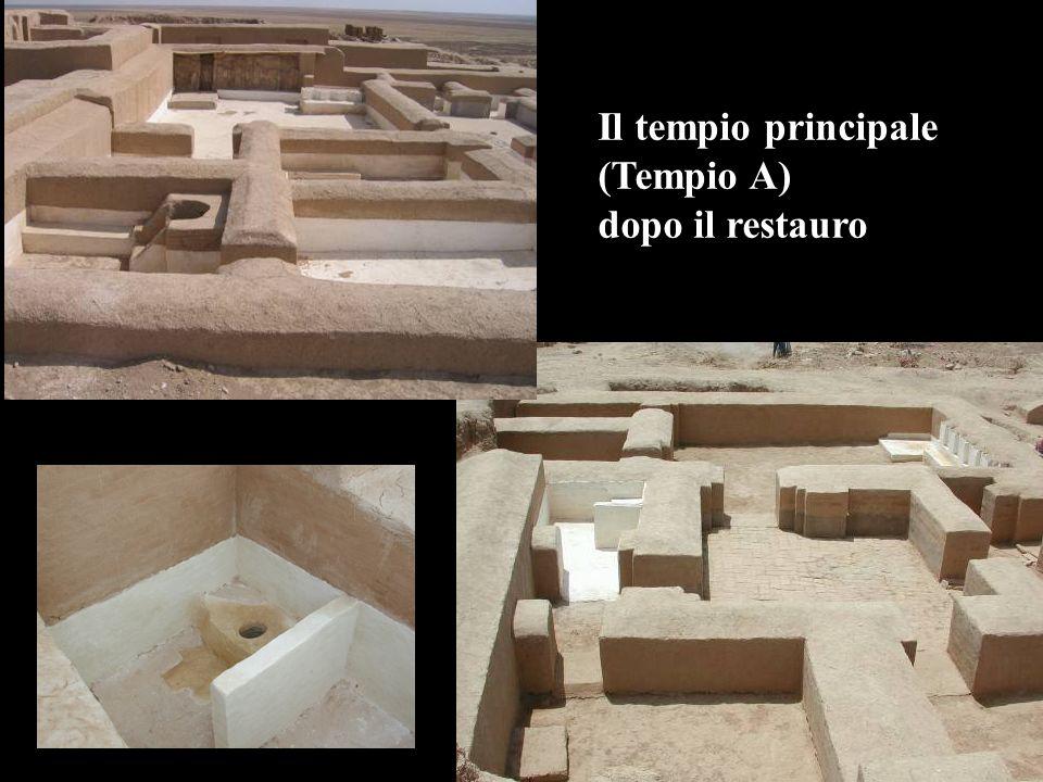 Il tempio principale (Tempio A) dopo il restauro
