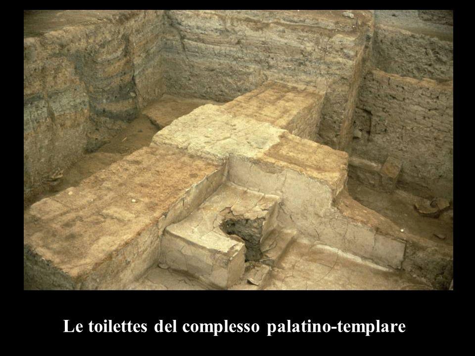 Le toilettes del complesso palatino-templare