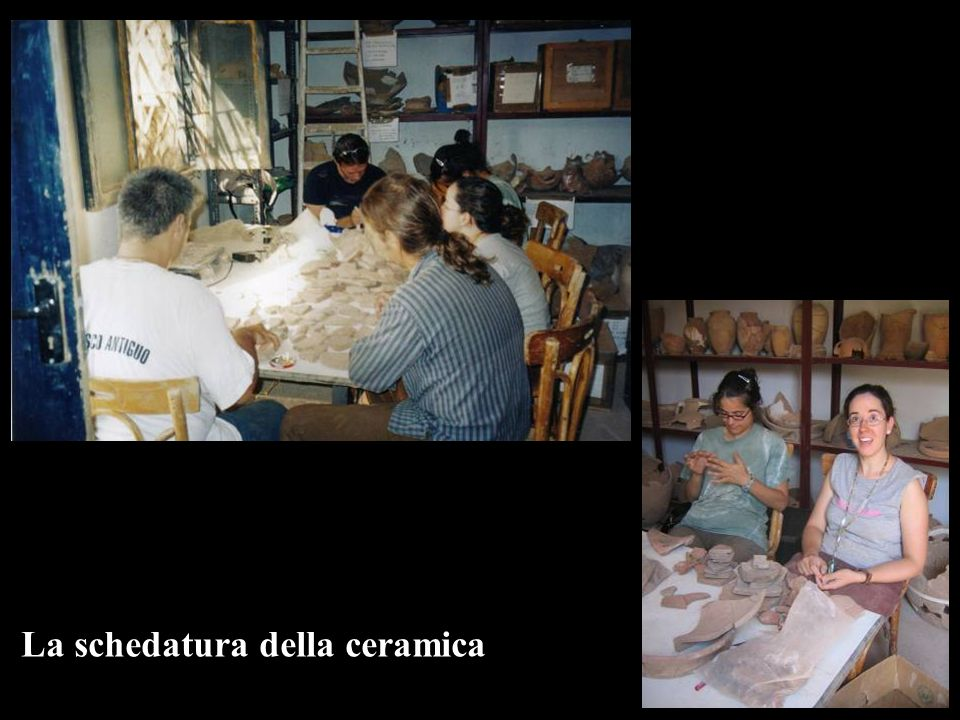 La schedatura della ceramica