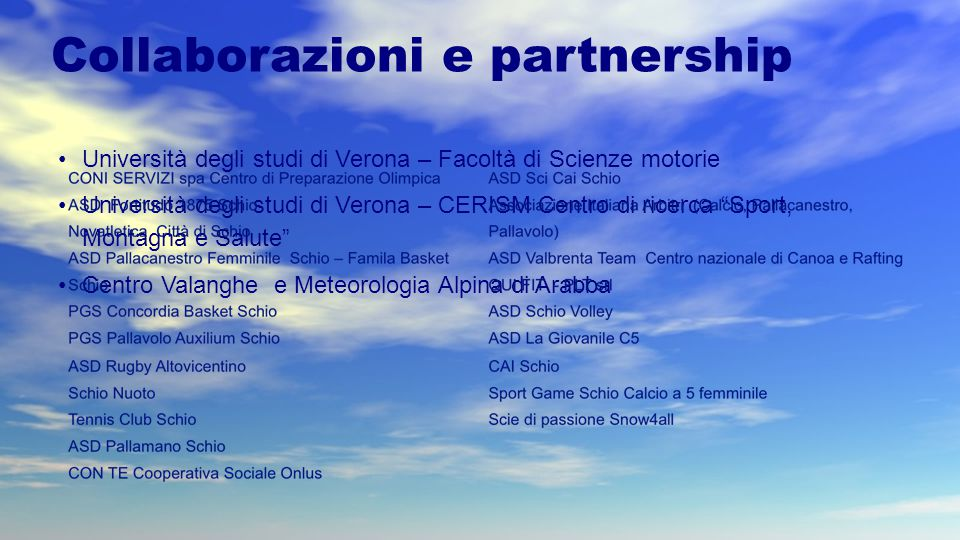 Collaborazioni e partnership