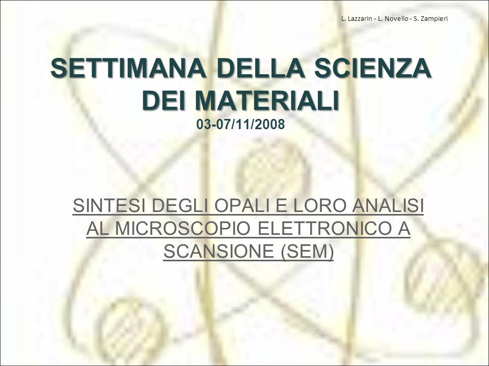 SETTIMANA DELLA SCIENZA DEI MATERIALI 03-07/11/2008