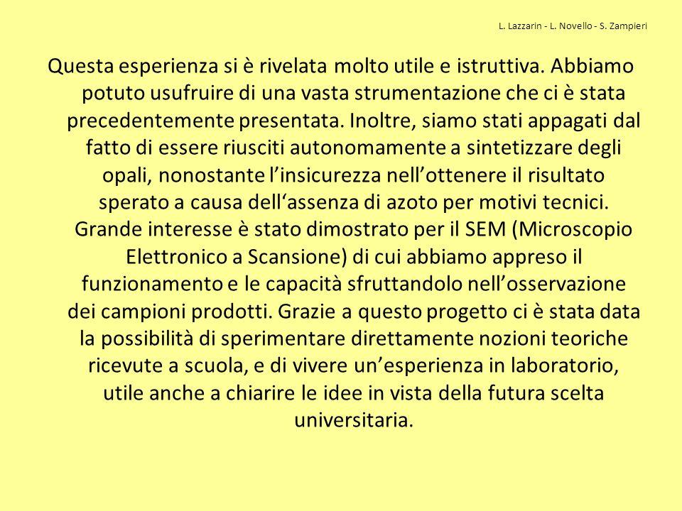 L. Lazzarin - L. Novello - S. Zampieri