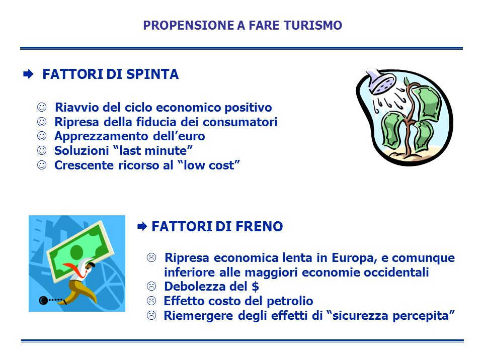 PROPENSIONE A FARE TURISMO