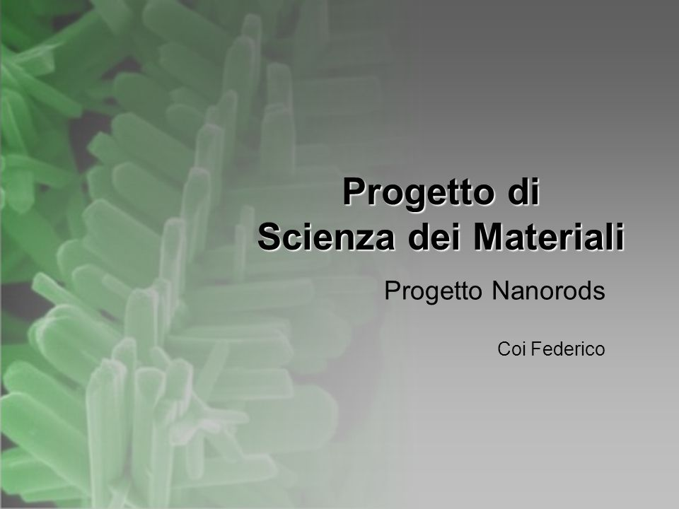 Progetto di Scienza dei Materiali